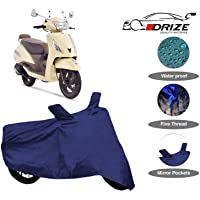 Drize Finest Tvs Jupiter Classic Body Cover Waterproof With Ultra Surface Body Protection (Navy Look)