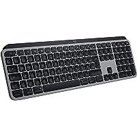 Logitech MX Keys für Mac kabellose beleuchtete Tastatur, Taktile Tastatursteuerung, LED-Tasten, Bluetooth, USB-C, 10…