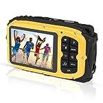 PowerLead Unterwasser Kamera 2,7 Zoll LCD Digitalkamera 16MP Video Camcorder wasserdicht Kamera Zoom Video Recorder + 8 X...