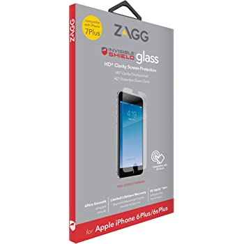 separation shoes c6720 5d5cc InvisibleSHIELD Glass Screen Protector for iPhone 8 Plus/7 Plus/6 Plus/6s  Plus - Clear