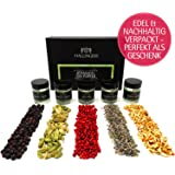 Hallingers 5er Premium Gin-Botanicals als Geschenk-Set (43g) - Botanical Gin Pimper (MiniDeluxe-Box) - zu Passt immer Für Ihn
