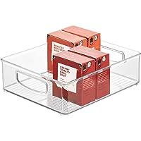 iDesign bac rangement frigo, grande boîte alimentaire en plastique, boîte conservation alimentaire à poignées…