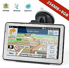 Navtour 7 Zoll GPS Navi Navigationsgerät Navigationssystem LKW PKW 8GB Europe Traffic mit Fahrspurassistent Sprachführung Poi Blitzerwarnungen kostenlose Kartenupdates
