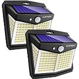 Claoner Solar Lights Outdoor, Upgraded Wireless Solar Motion Sensor Security Light 270° Solar Powered Lights IP65 Solar…