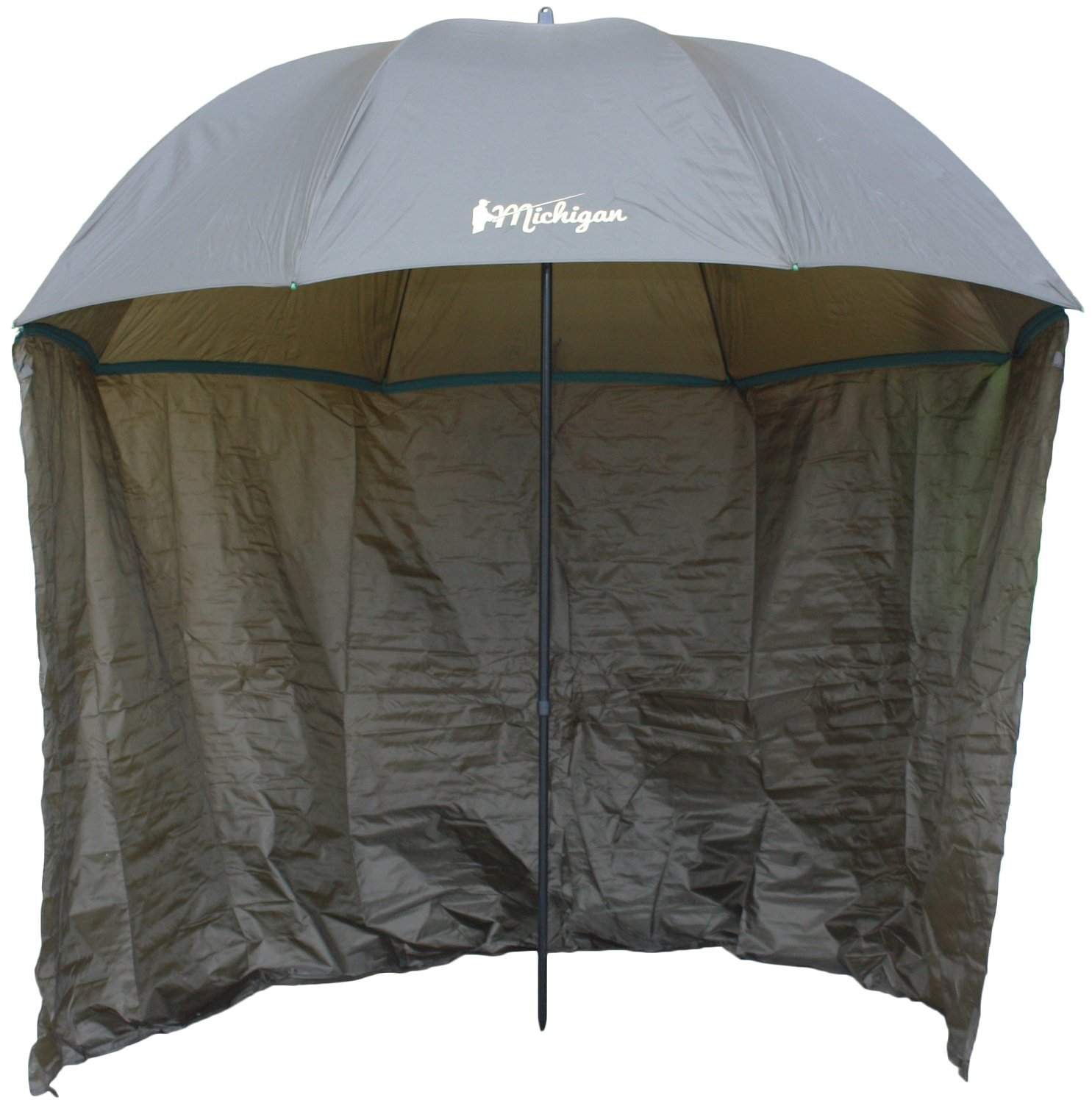 "Michigan Fishing Umbrella with Top Tilt and Sides Brolly Shelter with FREE Carry Bag, Olive Green, 50"", 60"", 75"" or 86"" 1"
