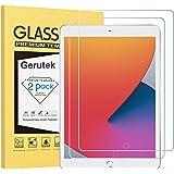 Gerutek [2-Pack Pellicola Protettiva per iPad 10.2 2020/2019 (8a/7a),[Vetro temperato] [Ultra Trasparente] [Anti-graffio] [Bu