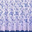 """Balmoral White Premium Quality Jacquard Net Curtain - Sold By The Metre - 45"""" Drop"""