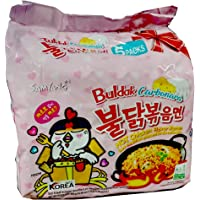Samyang Hot Chicken Flavor Ramen Buldak Carbonara Noodles, Pack of 5