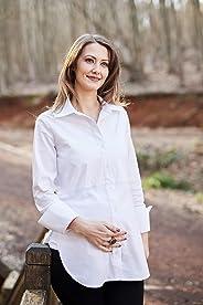 Hamile Gömlek: Mamma Lattes Klasik Yan Yırtmaçlı Hamile ve Emzirme Gömleği Baharlık Esnek Kumaş Terletmeyen Beyaz Siyah 38-44
