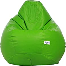 Sattva Excel Classic Bean Bag Cover Without Beans - XL Size - Neon Green Colour