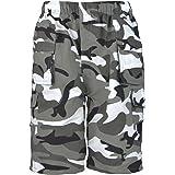 Pantalones cortos infantiles LotMart, lisos y de camuflaje, con muchos bolsillos, diseño Cargo Combat del ejército, incluye u