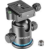 """Neewer testa panoramica per treppiede con rotazione a 360gradi su sfera e piastra per slitta da 1/4"""" a innesto rapido, livel"""