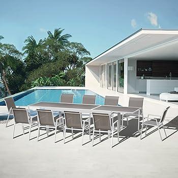 Salon de jardin aluminium Nouméa: Amazon.fr: Jardin
