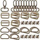 VINFUTUR D-ringen schuifgesp Triglide riem verstelbaar karabijnhaak magneetsluiting metaal magnetische knoppen voor DIY tas p