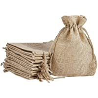 LifeKrafts Drawstring bags Jute Linen Gift Bags for Return Gifts Bags| Natural Jute Color |