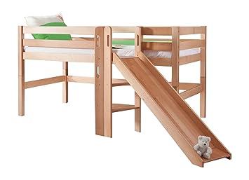 Kinderhochbett mit rutsche maße  Relita BS1311114-B90 Spielbett Eliyas mit Rutsche, Maße 210 x 113 ...