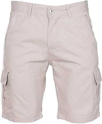 NOROZE Mens Cotton Combat Canvas Chino Shorts