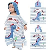ZYUPHY Asciugamano con Cappuccio Bambini Poncho da Bagno Cotone Assorbente Simpatico Cartone Animato Ragazzo Ragazza…