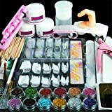 Pro Acryl Nail Art Tool Kit Set Poeder Nagel Sticker, Fashion Gallery Manicure Kit Nageltips Kunstnagels Nail Art Glitter Ger