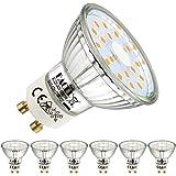 EACLL Ampoules LED GU10 Blanc Chaud Source de lumière 5W 2700K 425 Lumens, Équivalent incandescence halogène 50W. 120 ° Large