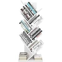 Homfa Bibliothèque Arbre Étagère à Livres Forme Arbre Artistique Casier Bibliothèque en Bois Meuble de Rangement pour…