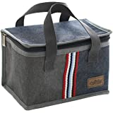 حقيبة كبيرة معزولة لحفظ الغداء للنساء والرجال والاطفال، صندوق للنزهات والسفر لحفظ الطعام، حقيبة حرارية كبيرة تحمل باليد (مربع