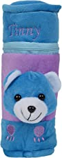 Mummamia My Fuzzy Teddy Bottle Cover (Blue_250 ml)