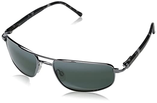 sunglasses polarised  Maui Jim 162-02 Gunmetal Kahuna Aviator Sunglasses Polarised ...