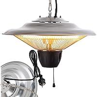 Arebos Radiateur Plafond Électrique Chauffage Infrarouge | 1500 W | Chauffage très Rapide | Aluminium
