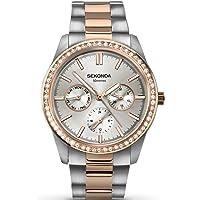 SEKONDA Womens Multi dial Quartz Watch with Stainless Steel Strap 2162