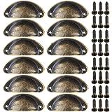 Xinlie Schelpgreep, 12 stuks, voor laden, antiek, deur, vintage, meubilair, met schroeven, voor in de keuken of een kastje