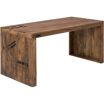Woodkings Schreibtisch oder Esstisch Hankey 160cm, Echtholz rustikal ...