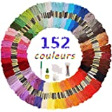 Fils a Broder,Fil de coton 152 Couleurs kit de broderie pour Broderie Point de Croix Tricotage Bracelets Brésiliens Fils à Co
