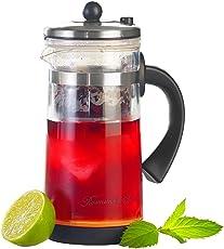 Rosenstein & Söhne Eistee Teebereiter: Eistee- & Tee-Bereiter-Kanne mit Komfort-Brühfunktion, 700ml (Teekannen)
