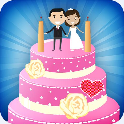 Hochzeitstorte Dekoration - süße Kuchenmacher Spiele