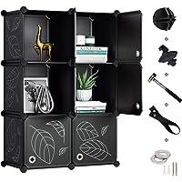 Greenstell 6 Cubes de Rangement avec Portes, Etagères Empilables en Plastique de Bricolage Armoire de Rangement…
