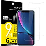 NEW'C Lot de 2, Verre Trempé Compatible avec iPhone 11 et iPhone XR (6.1), Film Protection écran sans Bulles d'air Ultra Rési