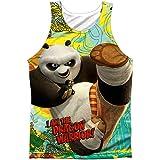 Kung Fu Panda Cartoon Action Movie Po: Dragon Warrior Front Print Tank Top Shirt