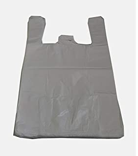 "100 x BLACK PLASTIC VEST CARRIER BAGS 8/""x13/""x18/"" BOTTLE BAG *SPECIAL OFFER*"