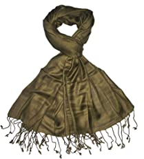 Craftshub Casual Soft Luxurious Solid Viscose Pashmina All Season Stole Scarf for Women and Men