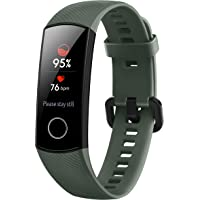 HONOR Band 5 (OliveGreen)- Waterproof Full Color AMOLED Touchscreen, SpO2 (Blood Oxygen), Music Control, Watch Faces Store, up to 14 Day Battery Life