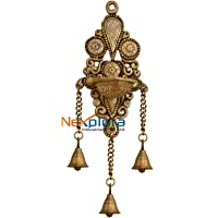 Nexplora Industries Pvt. Ltd. Wall Hanging Brass Diya Deepak in Glossy Black Antique Finished for Pooja Home Decor Gift