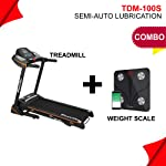 Powermax Fitness TDM-100S (2.0 HP) Motorized Treadmill with Jumping Wheel & SoftFlex Springs for Comfort Jogging