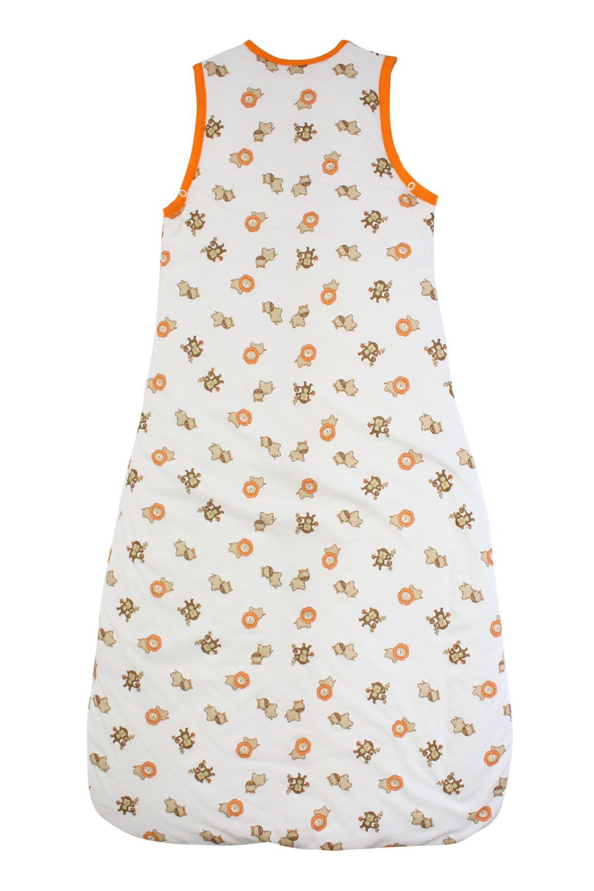 Saco de dormir de verano para niño Slumbersac 1.0 Tog AOP Simplemente Zoológico 3-6 años-130cm