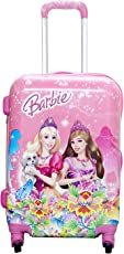 """16"""" inch 360Â Rotating Lagguge Wheels bag, Printed Pattern Non-Breakable Girls/Kids Trolley Bag- Multi-Colour By Exclusive fashion luggage (Note:Trolley character will be shipped on Random basis) (16""""Barbie)"""