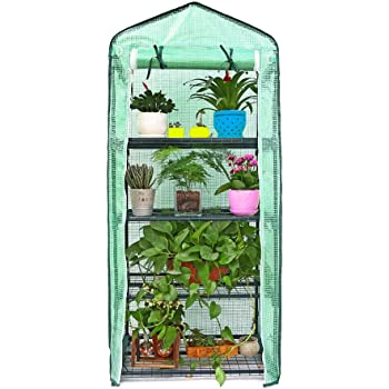 Beimaji Trade 5 Mini serre de jardin en PVC chaud Jardin Tier Ménage ...