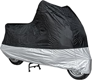 Motorrad Abdeckung Wasserdicht Uv Schutz Garage Roller Silber Schwarz Auto