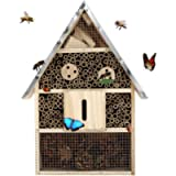 Buddy Wild Insect Hotel - 28x9.5x40cm Eco-Friendly Bug House for Bees Butterflies Insects in Garden - Kid Friendly…