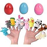 OYEFLY Easter Eggs lalki dla niemowląt, lalki rodzinne, zestaw dla niemowląt i dzieci, 10 sztuk, pluszowe zwierzę, zestaw plu