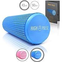 High Pulse® Pilates Rolle inkl. Gratis-Übungsposter – Die multifunktionale Schaumstoffrolle eignet Sich ideal für Muskelkräftigung, Fitness und Massage der Faszien